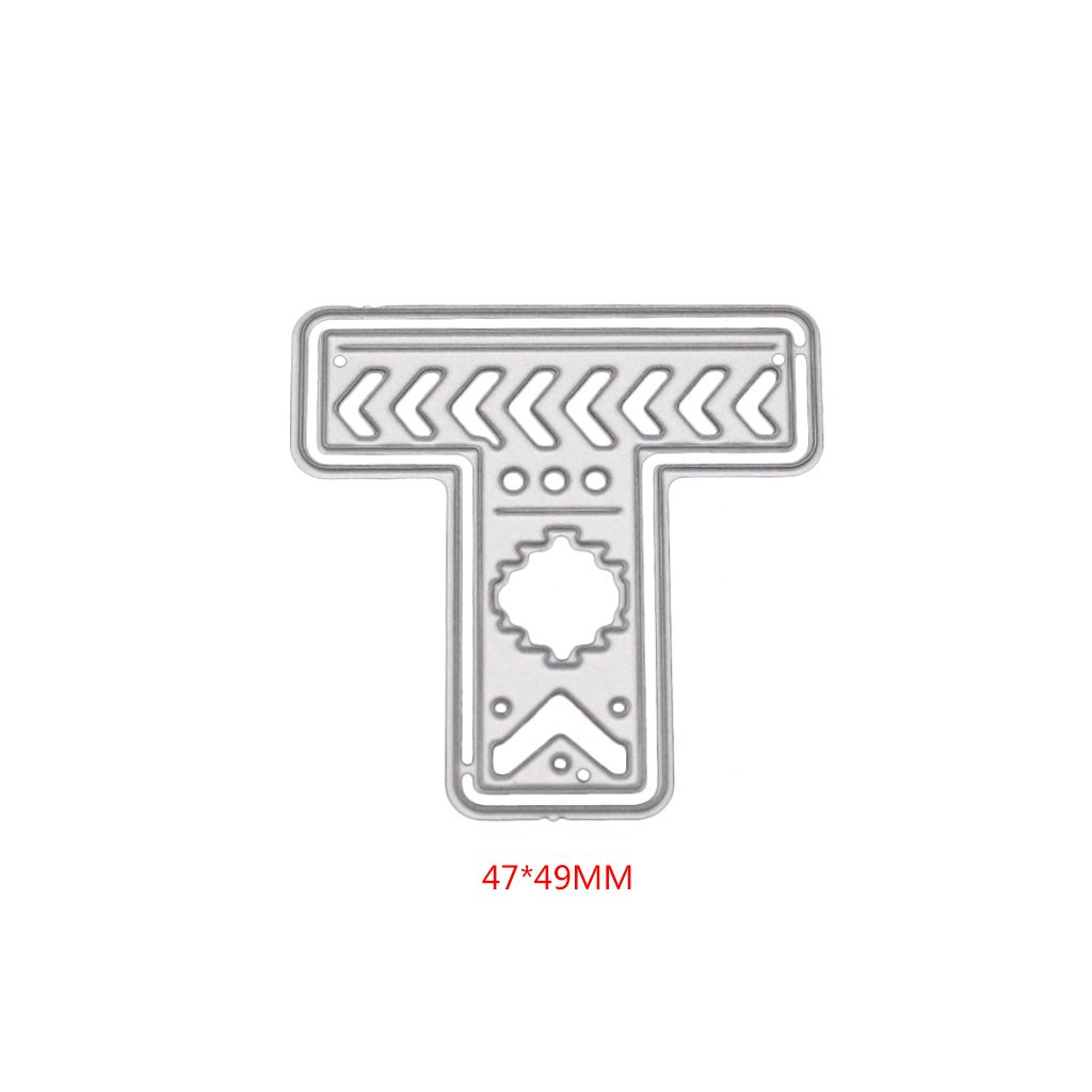 Nankod Letter T DIY Cutting Dies for Card Making Handmade Metal Mould Template for Card Scrapbooking Craft Gift Decorate