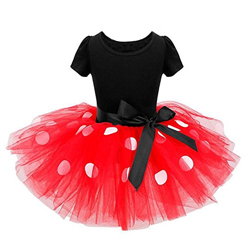 Baby Girls Tutu Dresses Toddler Tulle Short Sleeve Sundress Outfit Clothes Red