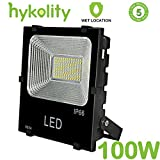 Hykolity 100W 11000lm LED Flood Light, Outdoor Weatherproof Signage Security light for Landscape Architecture [400W Equivalent] 5000k