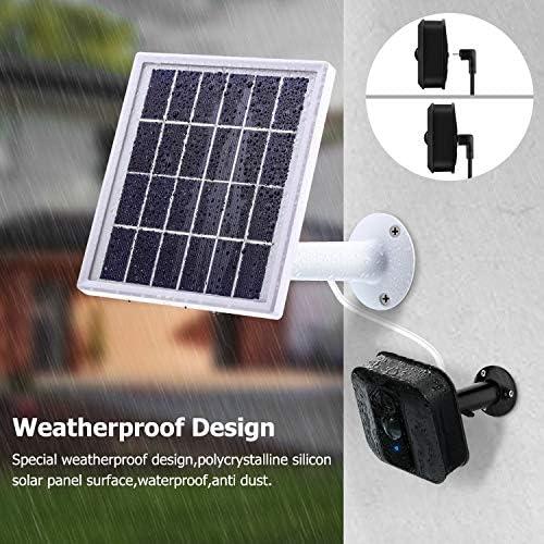 Solar Panel Kompatibel Mit Blink Xt Xt2indoor Outdoor Überwachung Kamera Mit Einer Einstellbaren Halterung 12 Fuß 3 6 M Kabel Stromversorgung Kontinuierlich Mit Solar Panel Weiß Baumarkt
