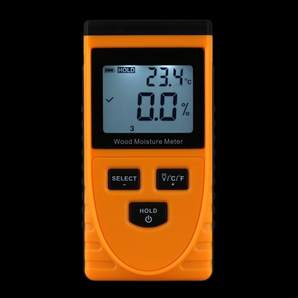 sypure (TM) Professionelle Digitale Holz Feuchtigkeit Meter Temperatur Luftfeuchtigkeit Tester LCD Display Hygrometer