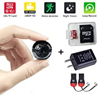 Mini Camera sports DVR 16GB 1080P Full HD Night Vision Motion Detection for Home Office spy cam FPV (Updated version)
