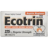 Ecotrin Regular Strength, 325 mg, 125 Tablets