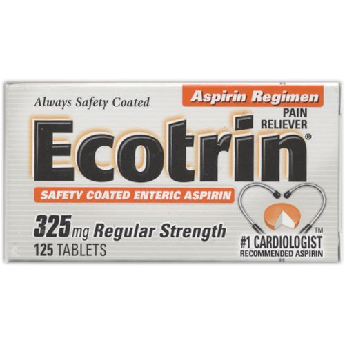 Ecotrin Regular Strength, 325 mg, 125 Tablets by Ecotrin