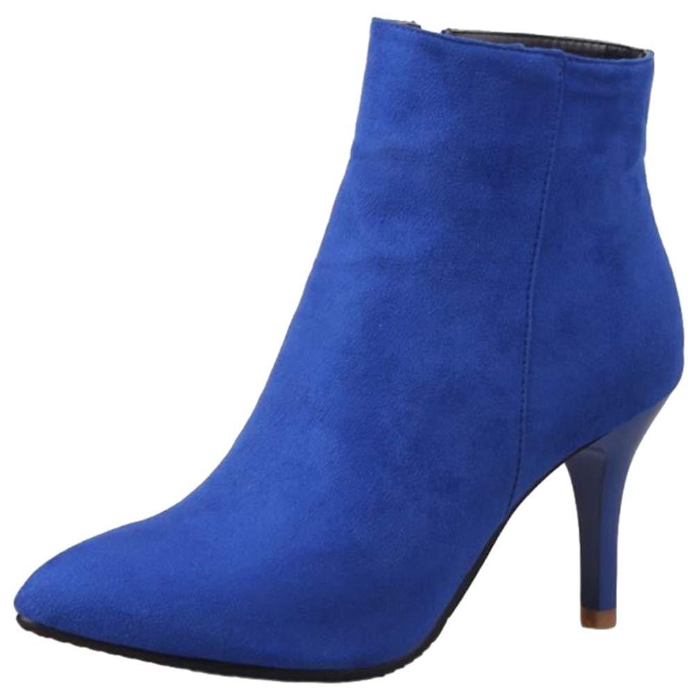SJJH Bleu , Boots Chelsea B07F8RSS35 Femme SJJH Bleu 8cd42f3 - fast-weightloss-diet.space