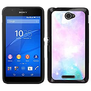 Stuss Case / Funda Carcasa protectora - Galaxy Gas Cloud Nebula Art Blue Pink Sky Stars - Sony Xperia E4