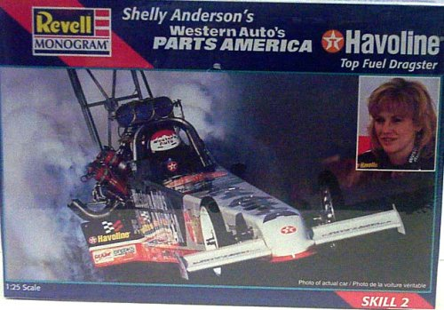 - Revell Monogram 7651 Shelly Anderson's Western Auto's Parts America Havoline Top Fuel Dragster - Plastic Model Kit - 1:25 Scale - Skill Level 2