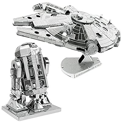 fascinations Metal Earth 3D Model Kits Star Wars Set of 2 Millennium Falcon & R2-D2: Toys & Games