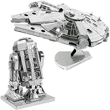 Star Wars Millennium Falcon Big Size Metal Earth 3D Model Kit FASCINATIONS