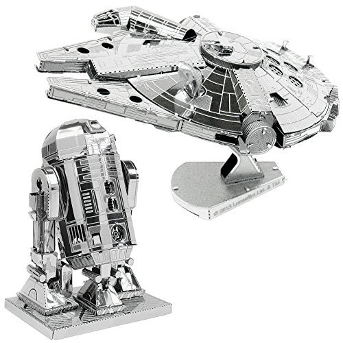 Wars Puzzle Star 3d - Metal Earth 3D Model Kits Star Wars Set of 2 Millennium Falcon & R2-D2