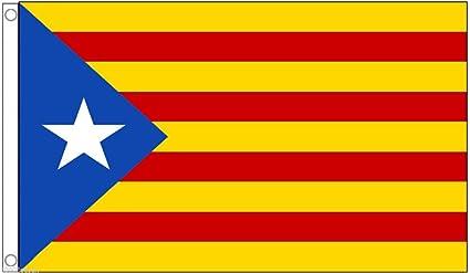 Amazon.com: Bandera de Cataluña Estelada Lone Star ...