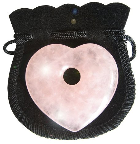 Rose Quartz Love Talisman Heart Donut