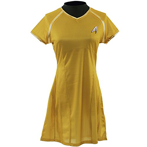 Allten Women's Costume Star Trek Into Darkness Yellow Dress XL