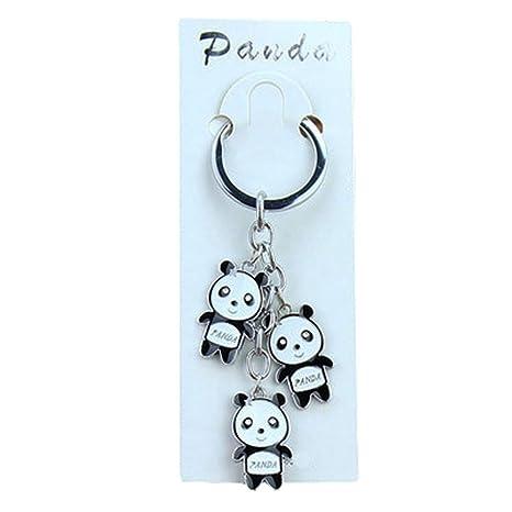Alien Storehouse 3PCS Panda Chino Llavero de Metal Llavero ...