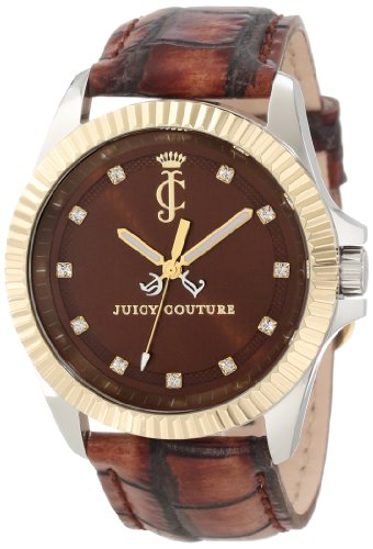Juicy Couture Women's 1900932 Stella Croc Embossed Leather Strap Watch