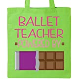 Inktastic - Ballet teacher Fueled by Chocolate Tote Bag Lime Green 1e3c6