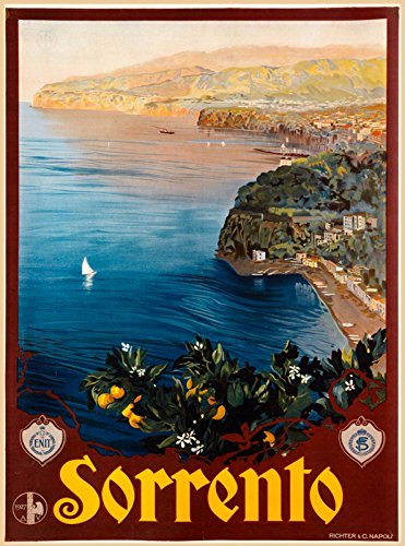 MAGNET Sorrento Italy Italian Coast Naples Europe Vintage Travel Advertisement Magnet