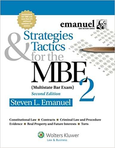Strategies amp Tactics for the MBE Multistate Bar Exam