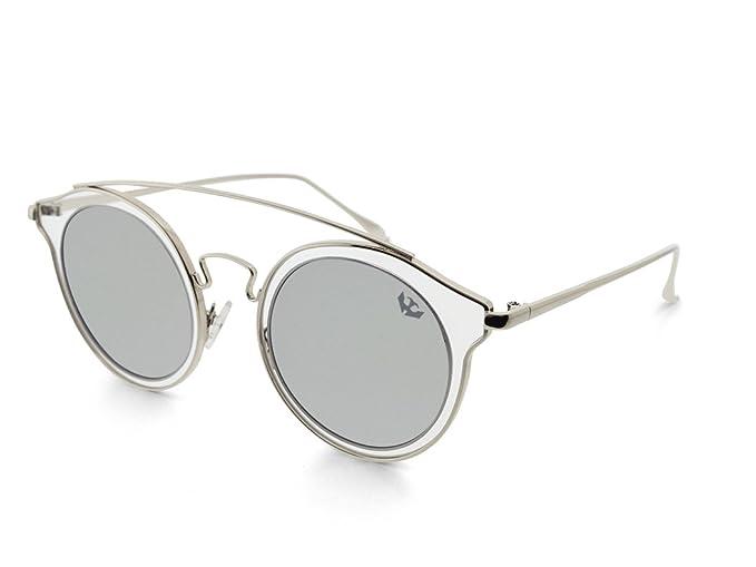 a2787cdc9a Gafas de sol mujer MOSCA NEGRA ® modelo BIG GLAM SILVER espejo - Polarized:  Amazon.es: Ropa y accesorios