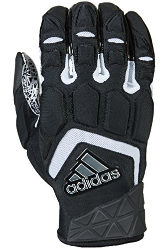 adidas Freak Max Padded Lineman Gloves, Black/White, XX-Large (Best Football Shoes For Lineman)