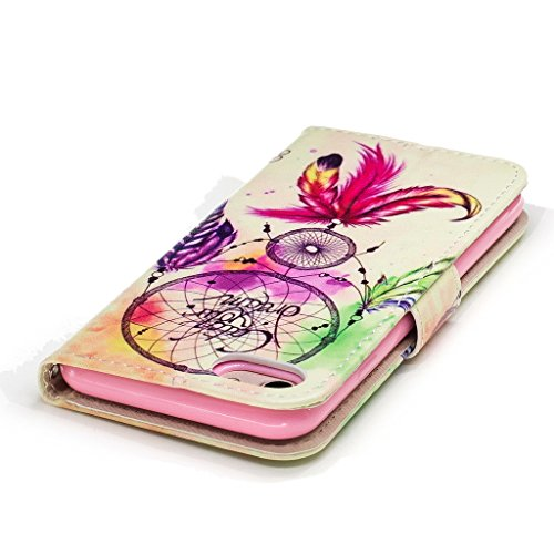 iPhone 7 Coque,Cloche de couleur Portefeuille Fermoir Magnétique Supporter Flip Téléphone Protection Housse Case Étui Pour Apple iPhone 7 + Deux cadeau