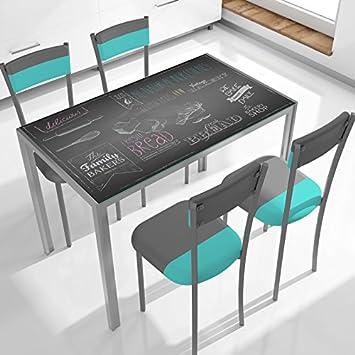 Table Cuisine Verre Trempe 105 Cm X 60 Cm X 75 Cm Amazon Fr