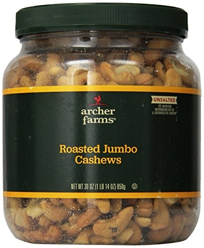 Archer Farms Roasted Jumbo Cashews Unsalted 30oz