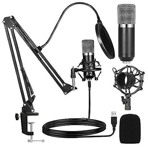 Ankuka Studio Condenser USB Microphone Computer PC Microphone - Sale: $33.99 USD (15% off)