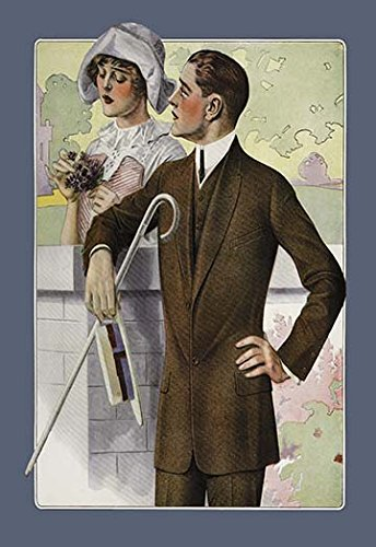 Dapper Man and Maudlin Girl Museum quality giclee print canvas wrap(20