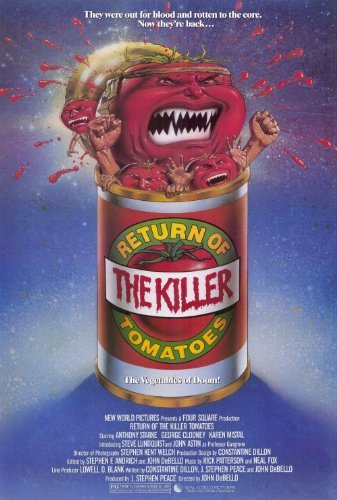Return of the Killer Tomatoes POSTER Movie (27 x 40 Inches - 69cm x 102cm) (1988) (Return Of The Killer Tomatoes George Clooney)