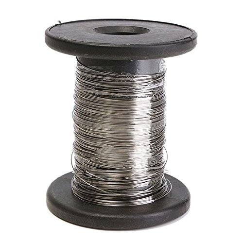 SODIAL(R) 30M 304 Stainless Steel Wire Roll Single Bright Hard Wire Cable, 0.6Mm (Black Cables Twisted Steel)