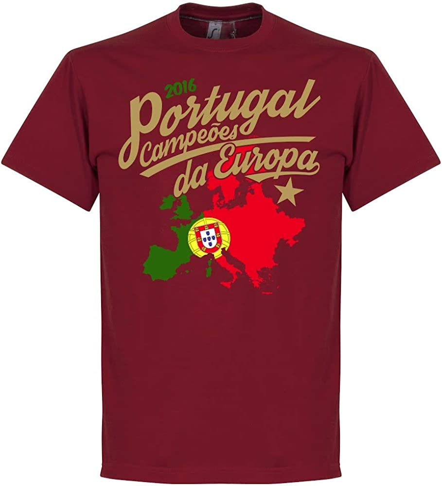 Retake Portugal Campe/óes DA Europa 2016/T-Shirt/ /Rouge Profond