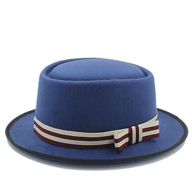 GHC gorras y sombreros Sombrero plano de mujer Homburg Fedpra ...