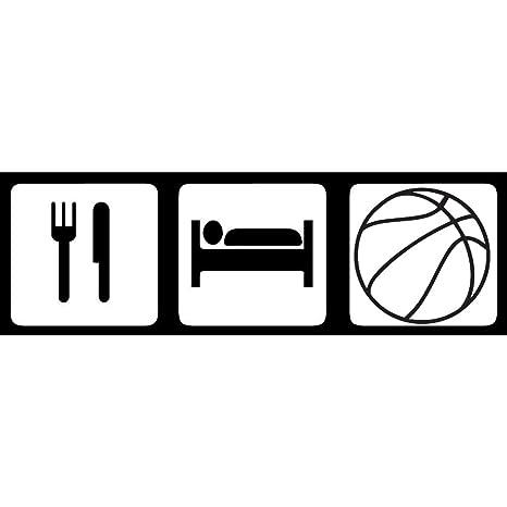 Eat Sleep Basketball Vinyl Decal Sticker Car Truck Window