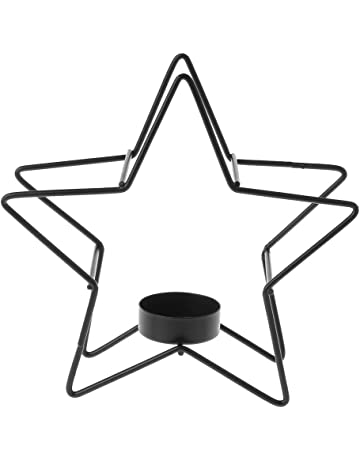 yanhonin estilo nórdico 3d con cinco puntas estrella candelabro Metal Portavelas candelabro boda decoración