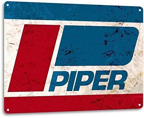 Amazon.com: SRongmao Piper - Cartel de chapa de metal con el ...