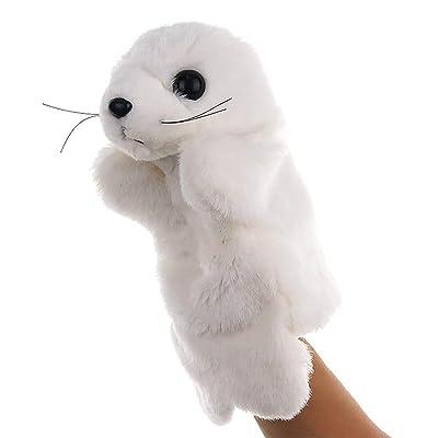 BUDIUK Marioneta Marioneta de Mano Juguetes de Peluche Animal Lindo Sea Lion Story Juguete Muñeca Blanda Juguetes for niños Juguete for niños: Hogar