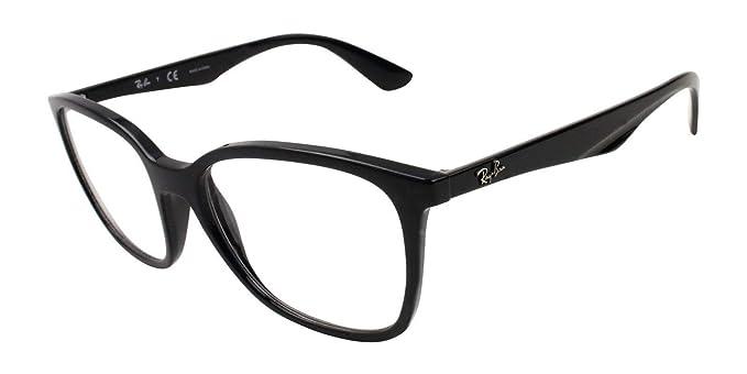 Ray-Ban RX7066 Unisex Square Eyeglasses (Shiny Black Frame 2000 63eaf565655