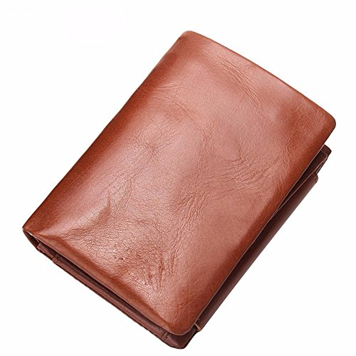 short leather wax packs brown percent NHGY men's purse leisure Leather wallet off zero wallet oil seventy xw8UYz