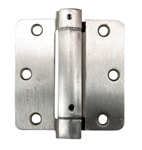 Door Closing Hinges Self Closing Hinges 2 Pack 3.5 Inch with 1//4 Inch Radius in Satin Nickel Hinge Outlet Adjustable Spring Hinges