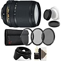 Nikon AF-S DX NIKKOR 18-140mm f/3.5-5.6G ED Vibration Reduction Zoom Lens with Auto Focus for Nikon DSLR Cameras with Accessory Kit