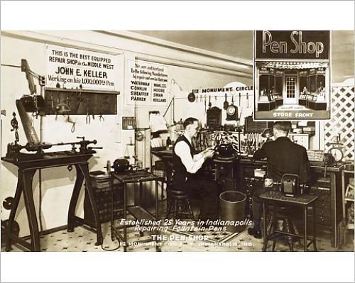 10x8 Print of A Fountain Pen Repair Shop - Indianapolis, Indiana, USA (11589899)