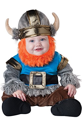InCharacter Baby Boy's Viking Costume, Silver/Blue, Small(6 - -