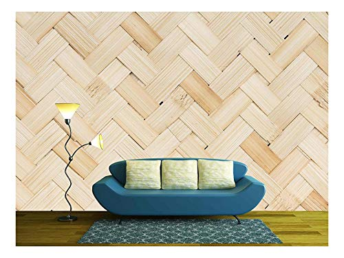 wall26 - Weave Bamboo - Removable Wall Mural   Self-Adhesive Large Wallpaper - 66x96 inches