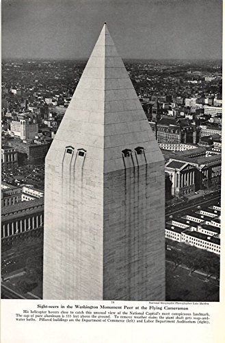 Print Ad 1949 Sight Seers In The Washington Monument Peer The Flying Cameraman