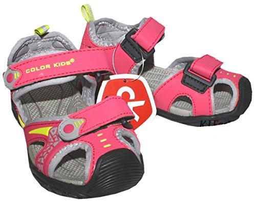 Trekkingsandale / Outdoorsandale in Rosa / Grau Modell BOLA von COLOR KIDS Size 30