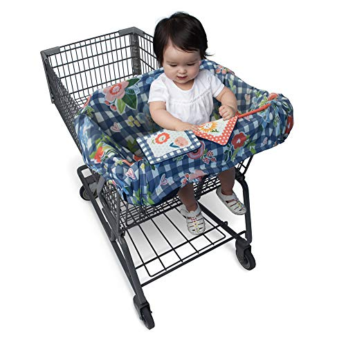 Lowest Price! Boppy Shopping Cart and High Chair Cover, Navy Blooms