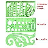 SIQUK 11 Pieces Geometric Drawings Templates