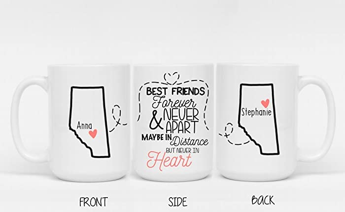 Best Friends Forever And Never Apart Maybe In Distance But Heart Mug
