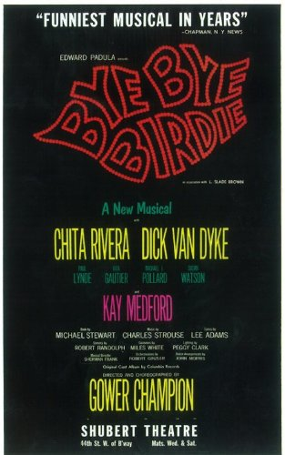 Bye Bye Birdie Poster (Broadway) (11 x 17 Inches - 28cm x 44cm) (1960) Style A -(Dick Van Dyke)(Chita Rivera)(Dick Gautier)(Susan Watson)(Paul Lynde and Charles Nelson - Den Charles Van